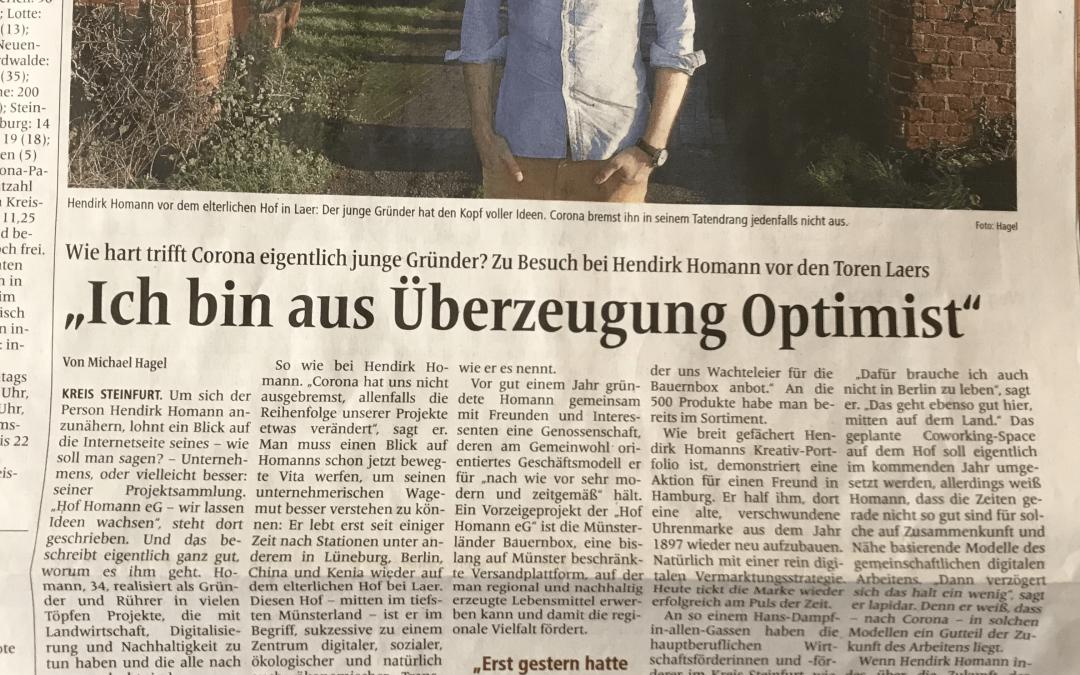 Westfälische Nachrichten 29.12.2020
